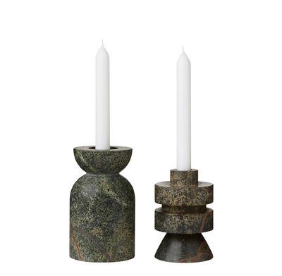 Dekoration - Kerzen, Kerzenleuchter und Windlichter - Rock Medium Kerzenleuchter / Marmor - variabel - Tom Dixon - Medium / grün - Marmor