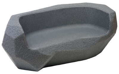 Möbel - Möbel für Kinder - Piedras Kindersofa / L 117 cm - Magis Collection Me Too - Anthrazit-grau - Polyäthylen