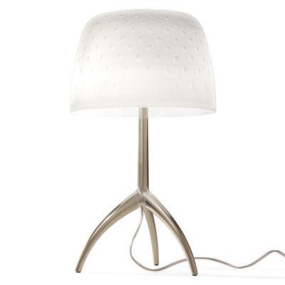 Lampe de table Lumière Grande 30th / H 45 cm - Edition limitée & numérotée - Foscarini blanc,champagne en verre