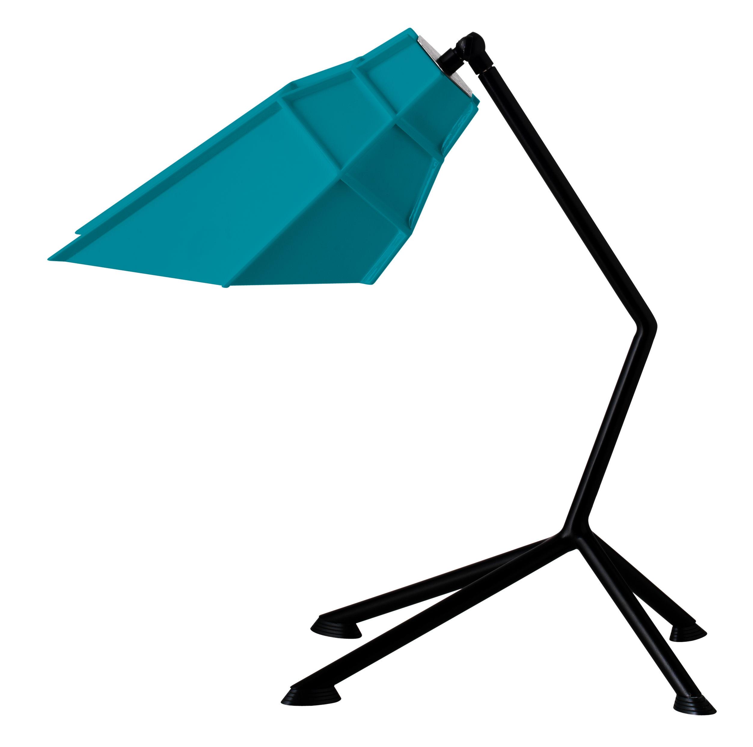 Luminaire - Lampes de table - Lampe de table Pett - Diesel with Foscarini - Bleu azur / Base noire - Acier peint, Polycarbonate