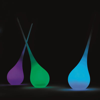 Lampe sans fil Ampoule Géant / Vase - H 205 cm - LED RGB - MyYour blanc en matière plastique
