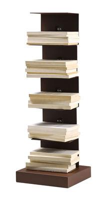 Arredamento - Scaffali e librerie - Libreria Ptolomeo / 1 lato - H 75 x L 25 cm - Opinion Ciatti - Marrone Corten effetto ruggine - Acciaio effetto Corten