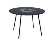 Table ronde Lorette Ø 110 cm Métal perforé Fermob carbone en métal