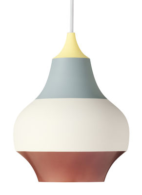 Lighting - Pendant Lighting - Cirque Pendant - Ø 38 x H 48 cm / Aluminium by Louis Poulsen - Yellow bottom/ Multicolored - Painted aluminium