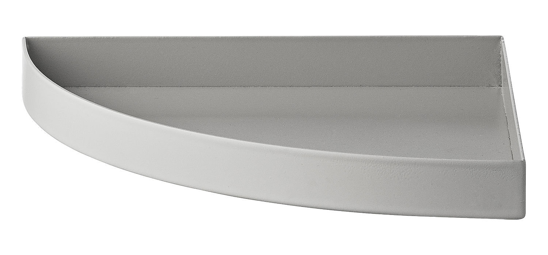 Tavola - Vassoi  - Vassoio Unity / Quarto di cerchio - L 16,5 cm - AYTM - Griggio chiaro - Ferro dipinto