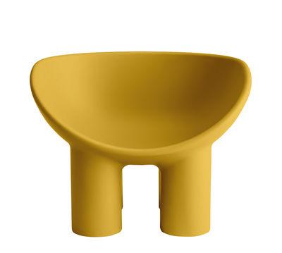 Arredamento - Poltrone design  - Poltrona Roly Poly di Driade - Ocra - Polietilene