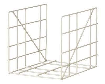 Porte-revues Square / 31 x 25 cm - Ferm Living gris clair en métal