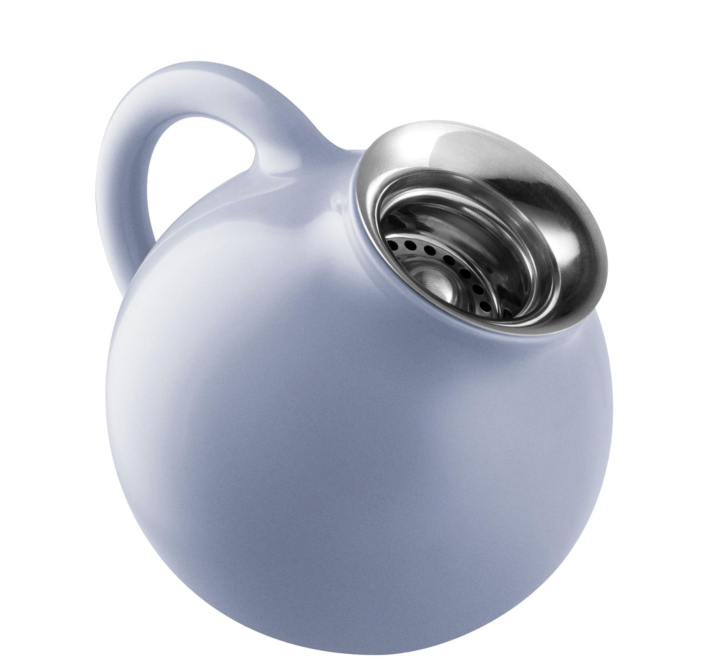 Arts de la table - Thé et café - Pot à lait Globe / 0,3 L - Grès - Eva Solo - Bleu nordique - Acier inoxydable, Grès