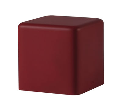 Furniture - Kids Furniture - Soft Cubo Pouf - Indoor / outdoor - 43 x 43 cm by Slide - Red - Polyurethane foam