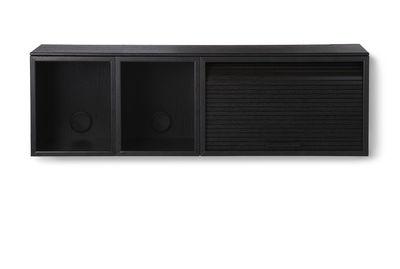 Rangement mural Hifive Slim / Meuble TV - L 100 x H 30 cm - Northern noir en bois