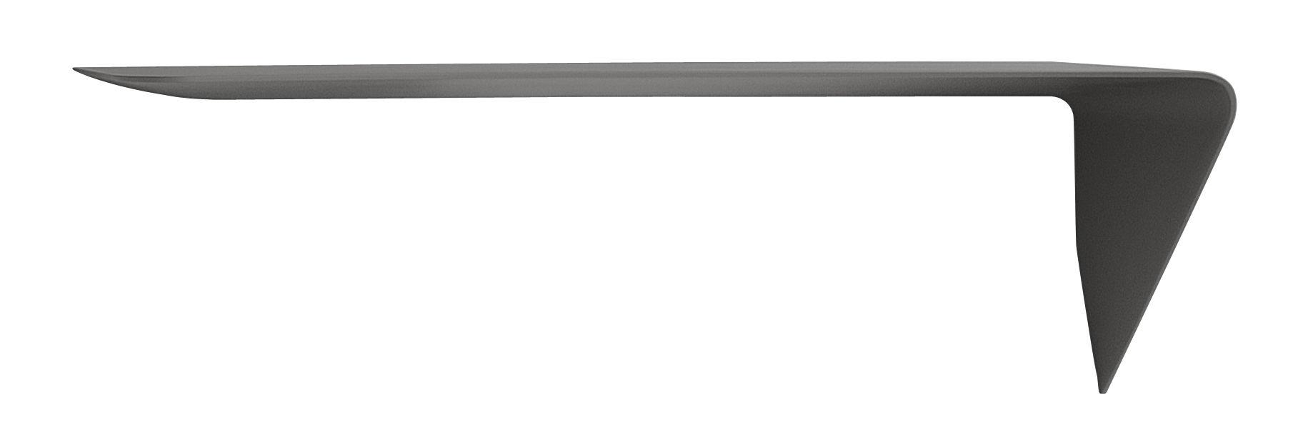 Möbel - Regale und Bücherregale - Mamba light Regal / Wandschreibtisch - Winkel rechts - L 134 cm x H 44 cm - MDF Italia - Grau - Fibre de bois