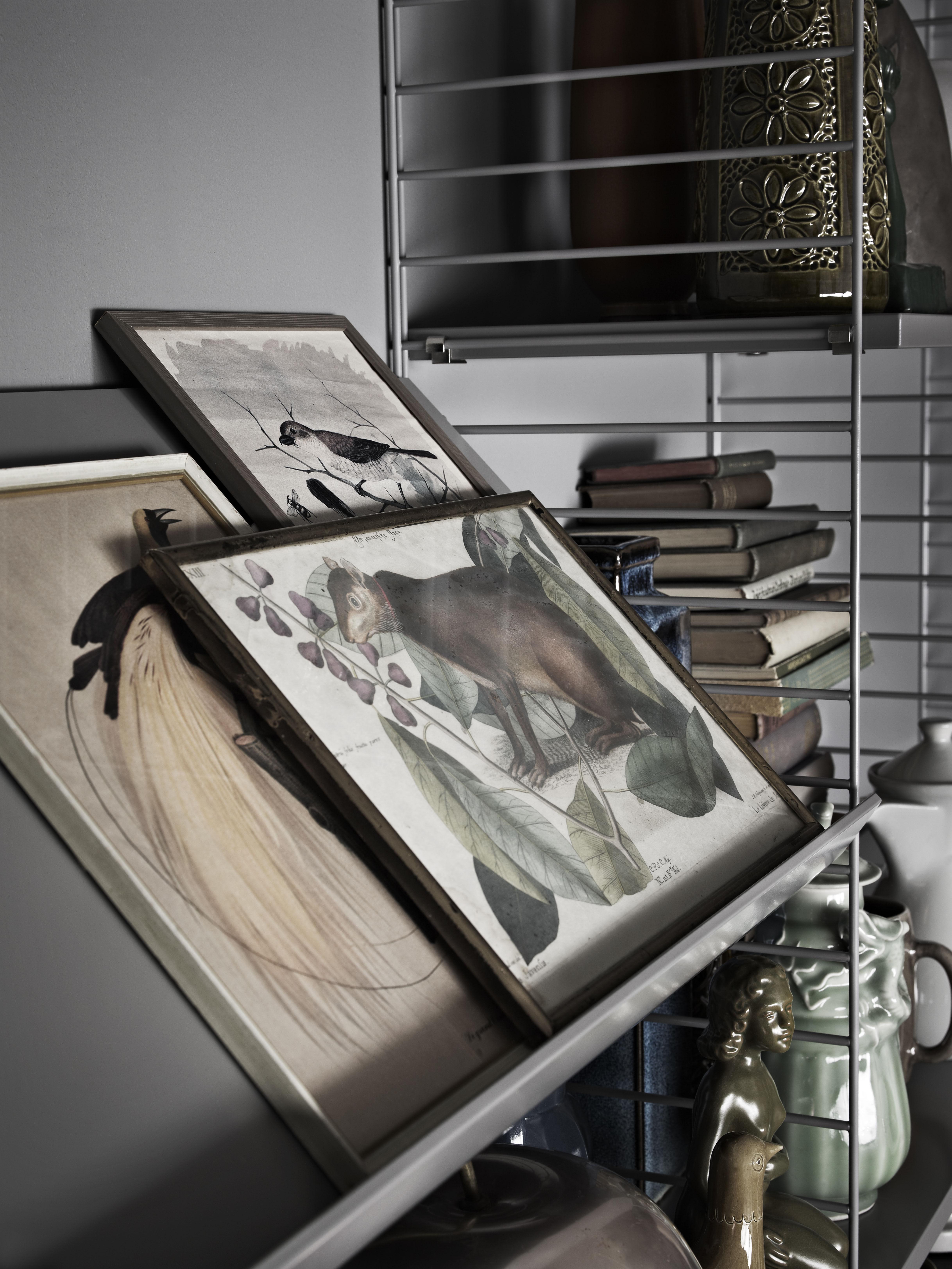 regal string system von string furniture wei made in. Black Bedroom Furniture Sets. Home Design Ideas