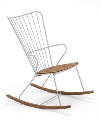 Rocking chair Paon Métal bambou Houe taupe,bambou naturel en métal