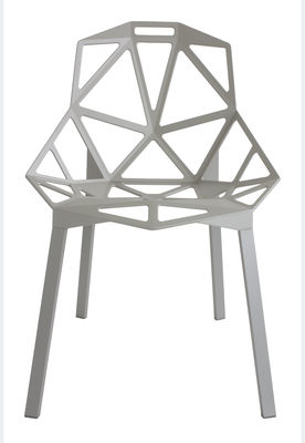 Furniture - Chairs - Chair One Stacking chair - / metal by Magis - Grey / Grey feet - Painted cast aluminium, Varnished aluminium