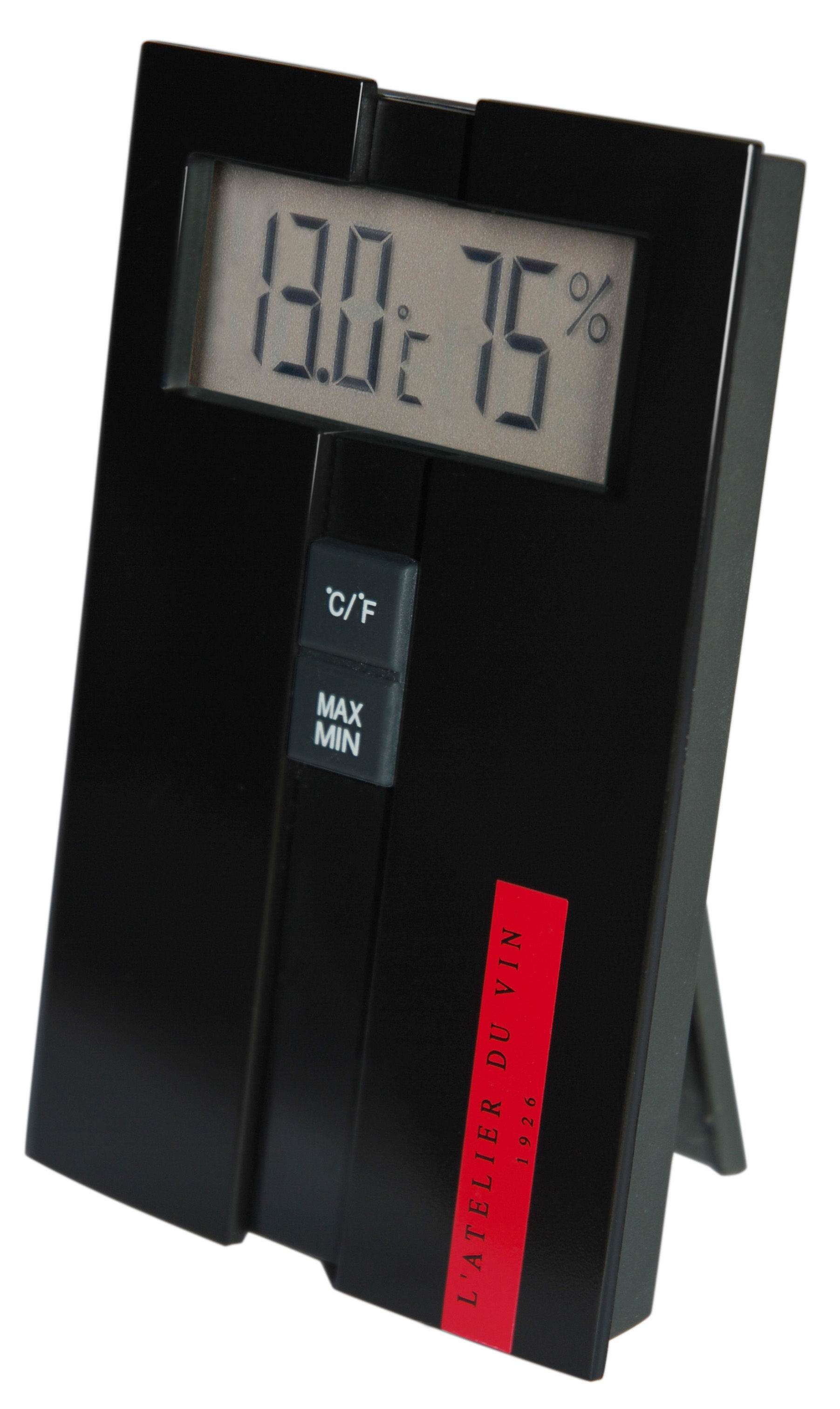 Accessoires - Objets connectés, accessoires high tech - Station digitale Hygro-Thermo mesure température et hygrométrie du vin - L'Atelier du Vin - Noir - Polycarbonate
