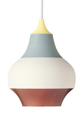 Luminaire - Suspensions - Suspension Cirque / Ø 38 x H 48 cm - Aluminium - Louis Poulsen - Haut jaune / Multicolore - Aluminium peint