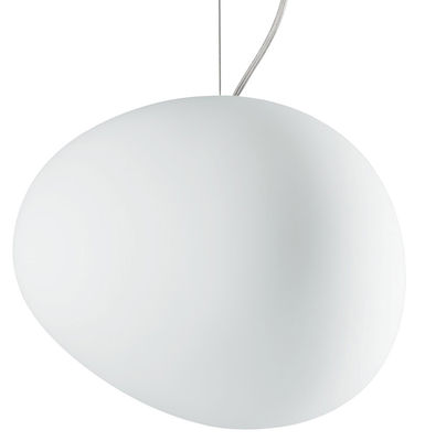 Suspension Gregg Media / Verre - Foscarini blanc en verre