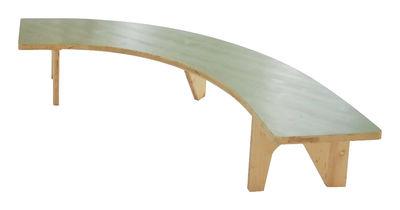 Mobilier - Tables basses - Table basse Le Hasard / banc en arc de cercle - L 136 x H 44 cm - Smarin - Vert pastel / Bois clair - Epicéa