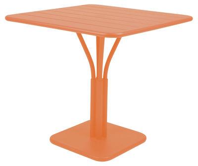 Table de jardin Luxembourg / 80 x 80 cm - Pied central - Aluminium - Fermob carotte en métal
