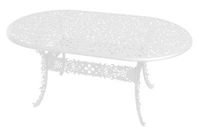 Table ovale Industry Garden L 152 cm Seletti blanc en métal