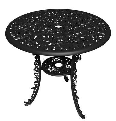 Table ronde Industry Garden Ø 70 cm Seletti noir en métal