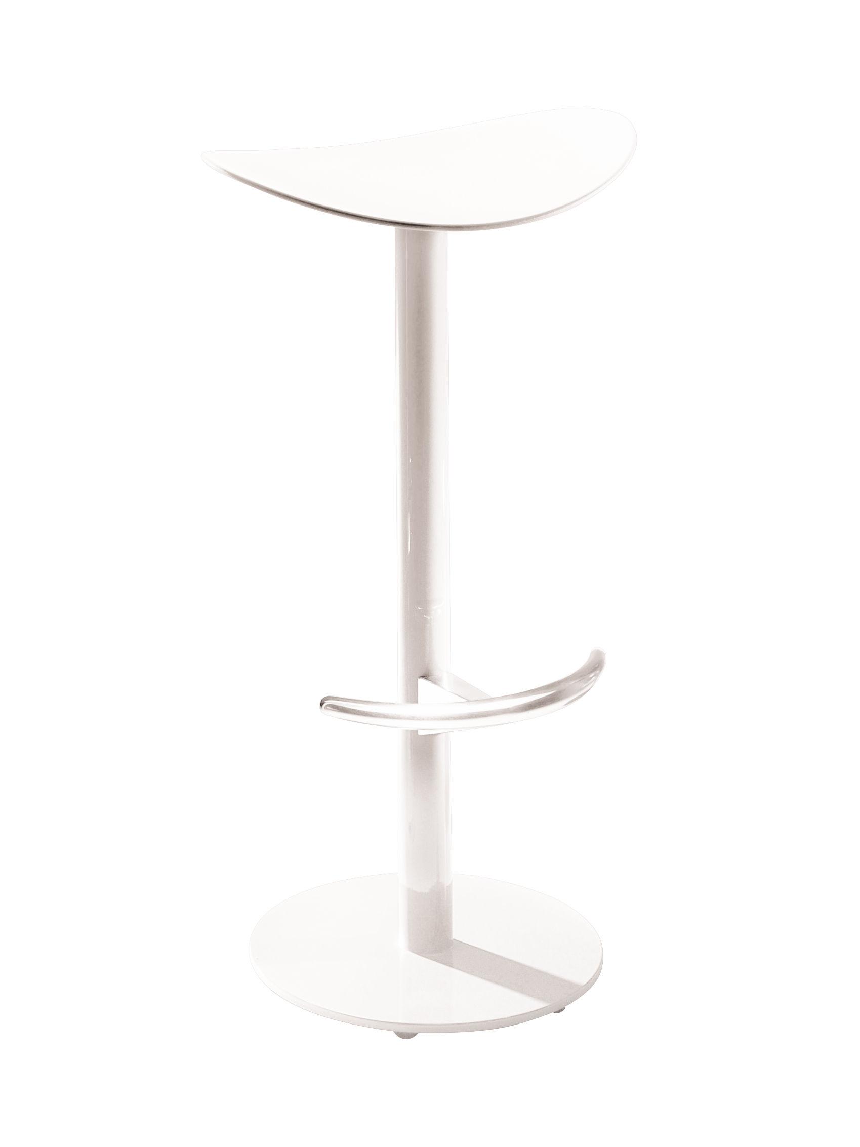 Mobilier - Tabourets de bar - Tabouret de bar Coma / H 65 cm - Plastique & métal - Enea - Blanc - Acier laqué, Polypropylène