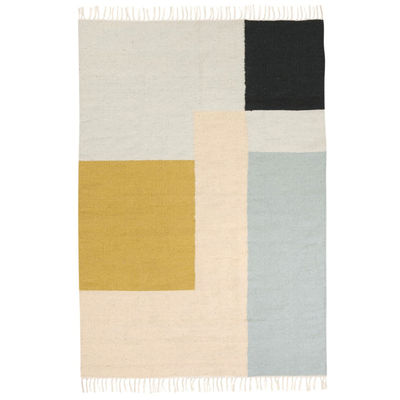 Tapis Kelim Squares / XL - 160 x 250 cm - Ferm Living multicolore en tissu