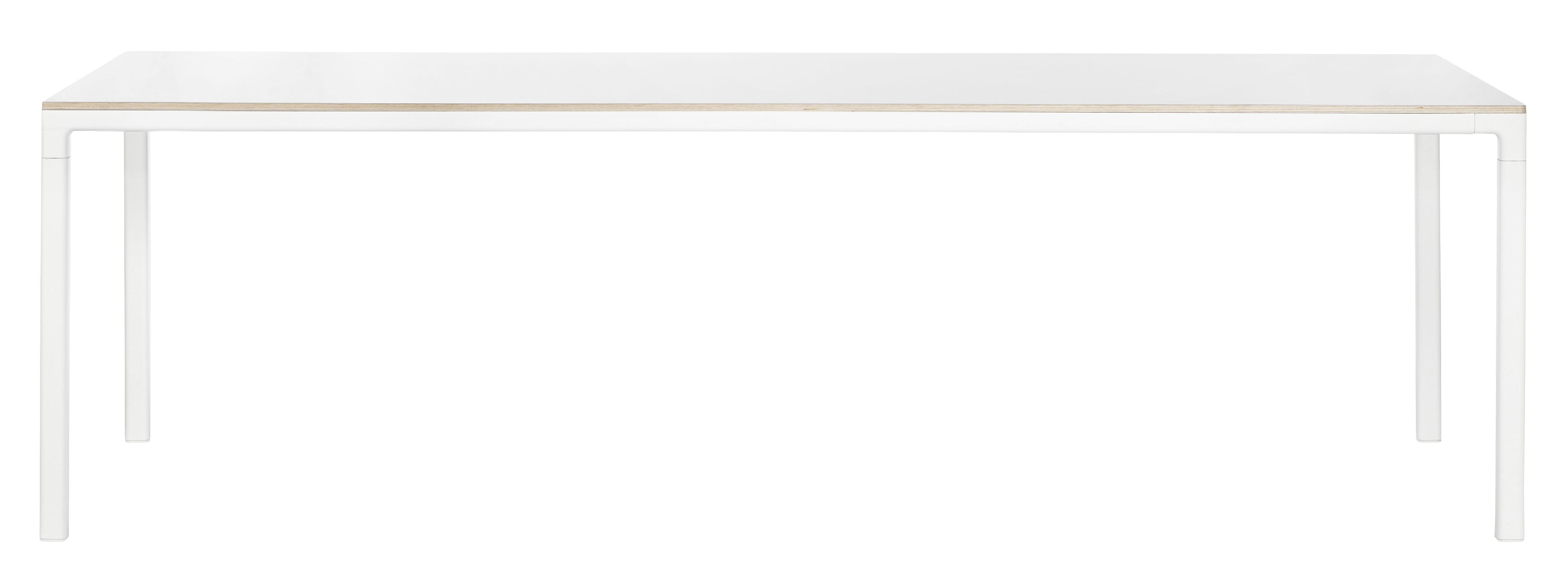 Arredamento - Tavoli - Tavolo T12 / Rettangolare - 250 x 95 cm - Hay - 250 x 95 cm / Bianco - alluminio verniciato, Stratificato
