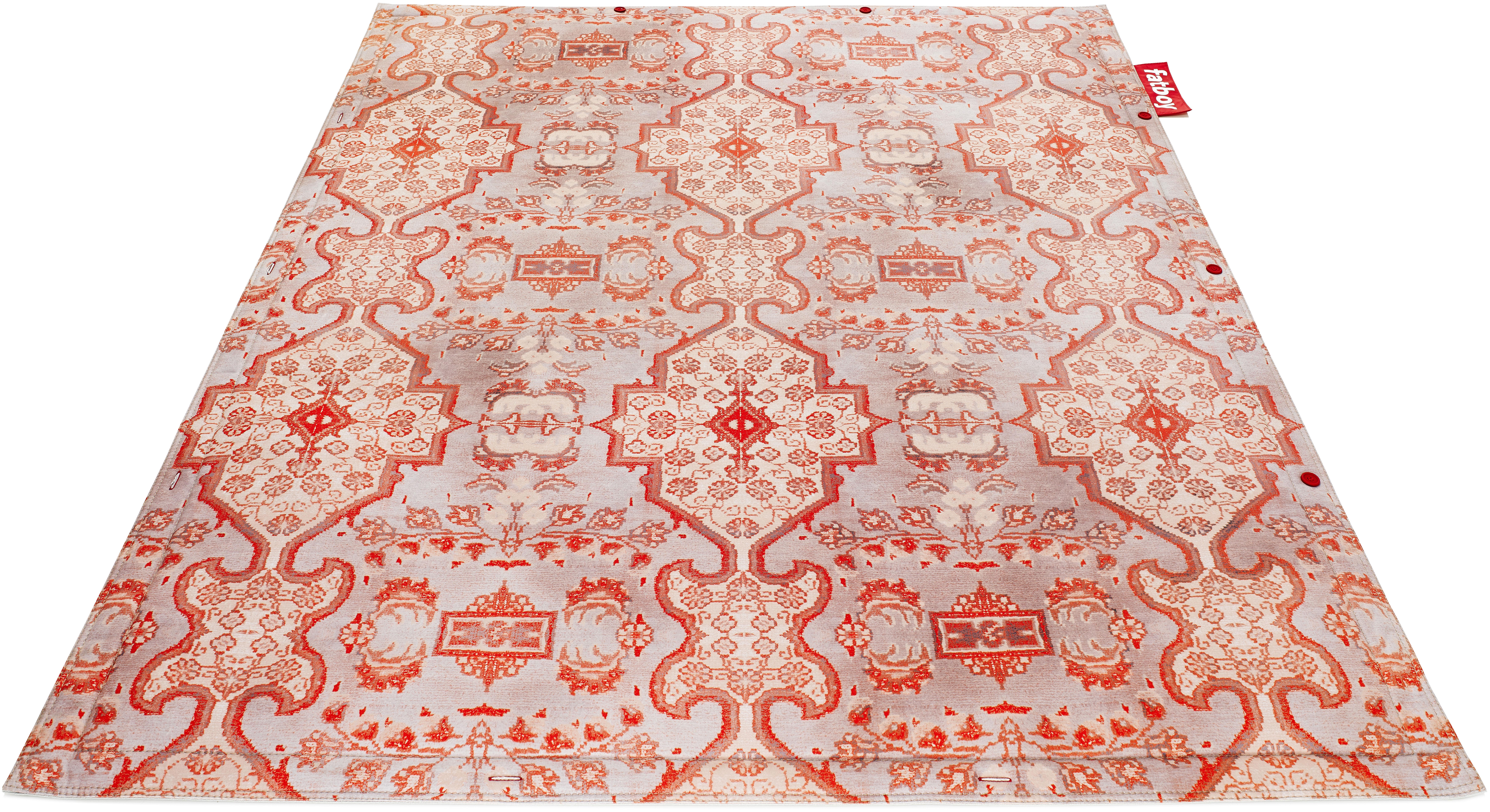 Möbel - Teppiche - Non-Flying Carpet Teppich / 180 x 140 cm - Fatboy - Small Persan, orange - Textile synthétique