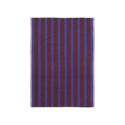 Cuisine - Tabliers et torchons   - Torchon Hale / 50 x 70 cm - Ferm Living - Bordeaux & bleu - Cotton, Lin