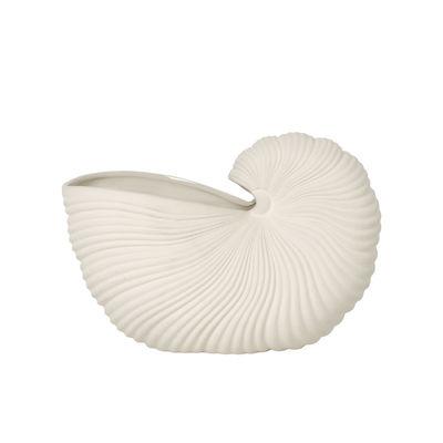 Decoration - Vases - Shell Vase - / Ceramic shell by Ferm Living - Off-white - Sandstone