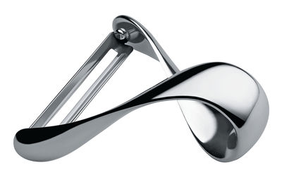 Kitchenware - Kitchen Equipment - Sfrido Vegetable, potato peeler by Alessi - Mirror polished steel - Polished mirror stainless steel
