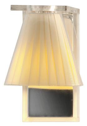 Leuchten - Wandleuchten - Light Air Wandleuchte / Lampenschirm aus Stoff - Kartell - Beige - Gewebe, Technopolymère thermoplastique