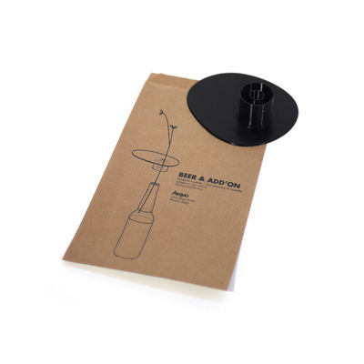 Decoration - Vases - Beer & Add'on Accessory - / For transforming a beer bottle into a single-stem vase by Aequo Design - Black - Biodegradable plastic