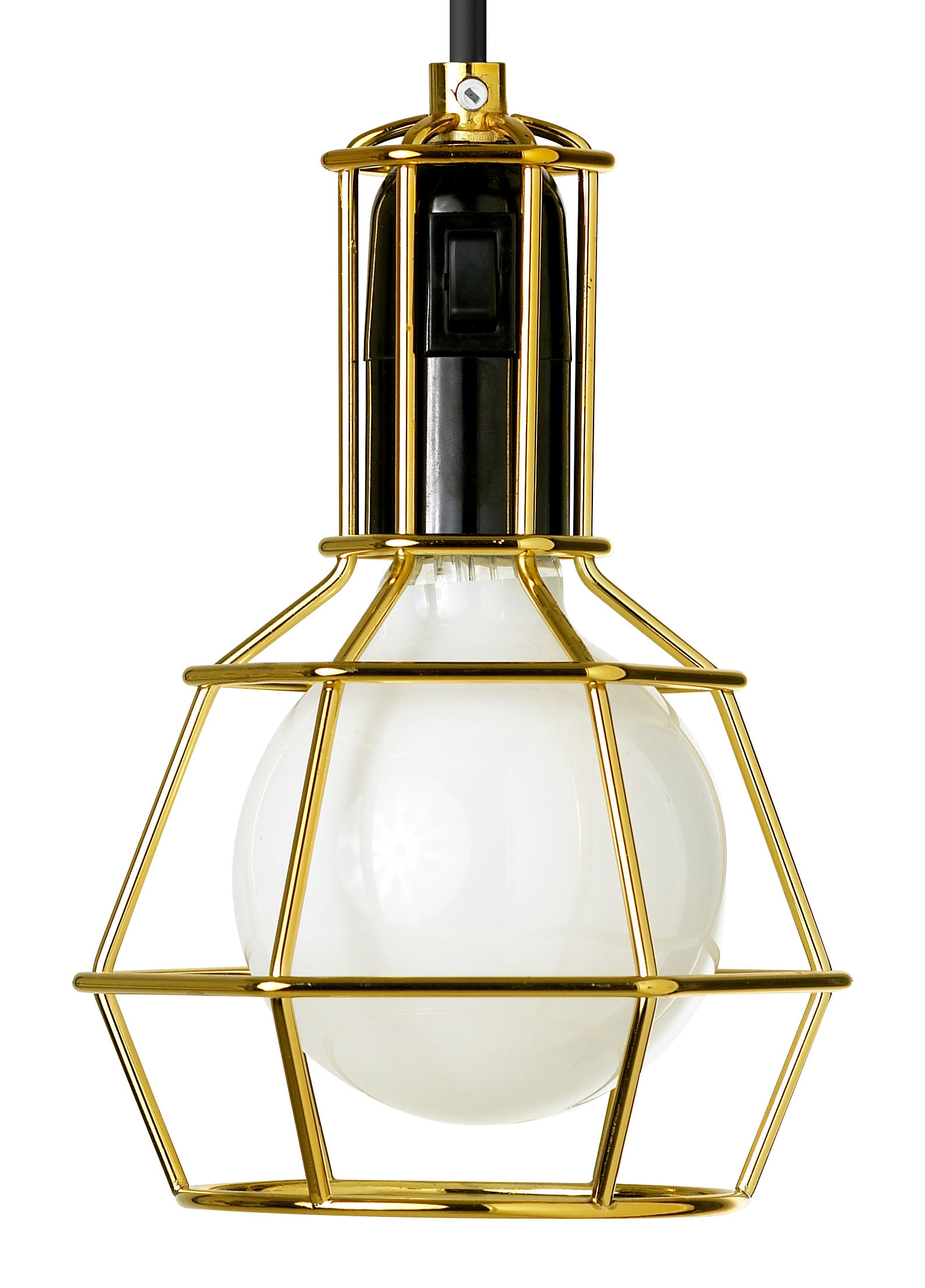 Luminaire - Lampes de table - Baladeuse Work / à poser ou suspendre - Design House Stockholm - Or - Acier doré