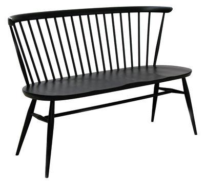 Mobilier - Bancs - Banc avec dossier Love Seat / L 117 cm - Réédition 1955 - Bois - Ercol - Noir - Hêtre massif, Orme massif