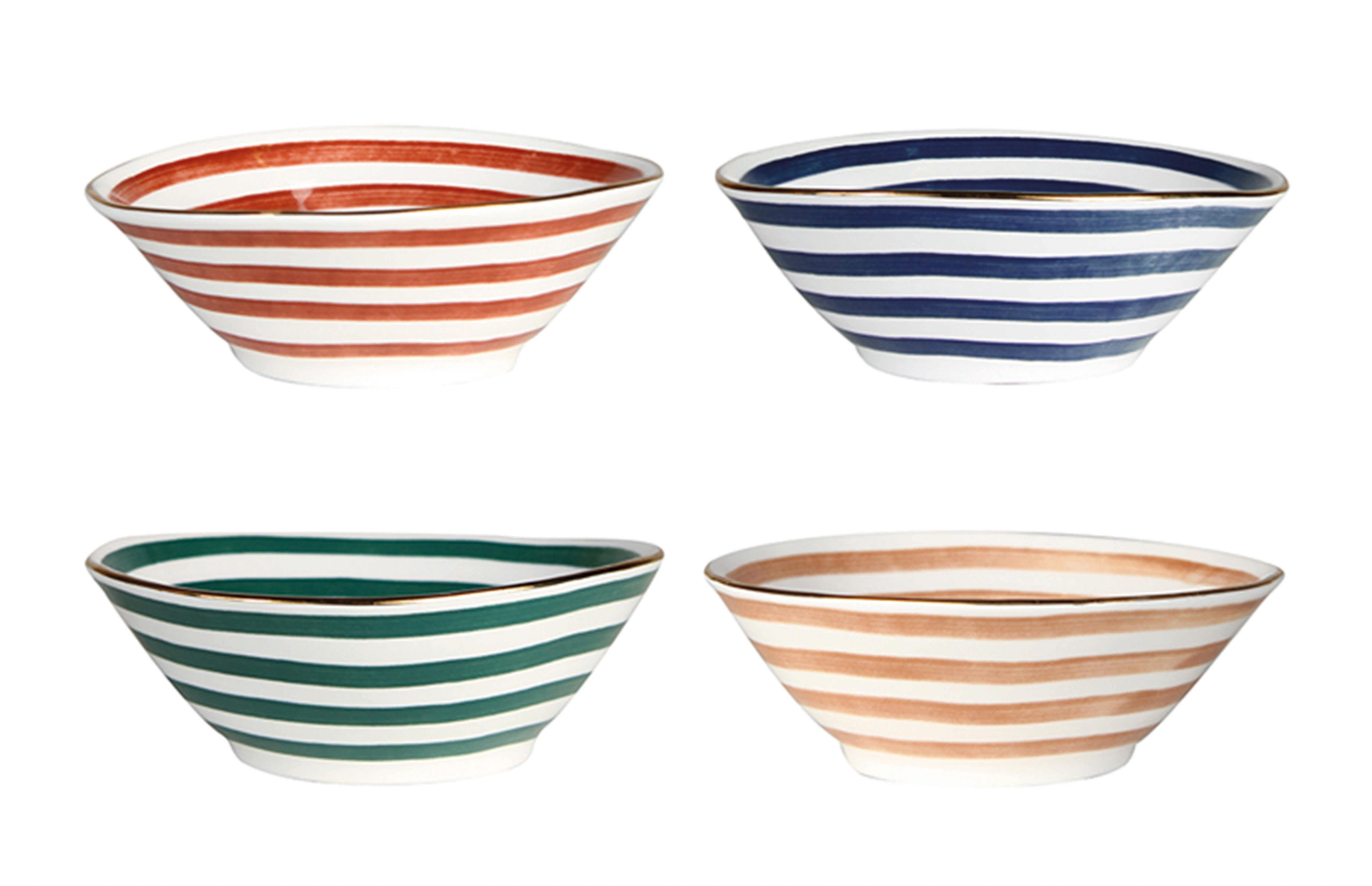 Arts de la table - Saladiers, coupes et bols - Bol Casablanca / Porcelaine - Set de 4 - & klevering - Multicolore - Porcelaine