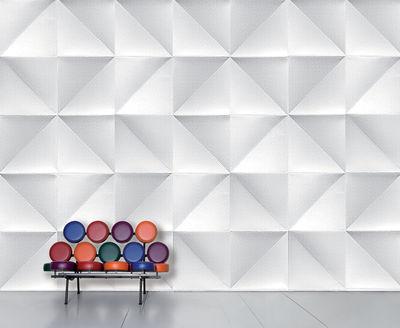 Interni - Sticker - Carta da parati panoramica WallpaperLab Floating - / Panoramica - 8 strisce - Edizione limitata di Domestic - Floating / Bianco & grigio chiaro - Tessuto non tessuto