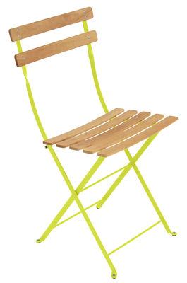 Chaise pliante Bistro / Métal & bois - Fermob bois,verveine en bois