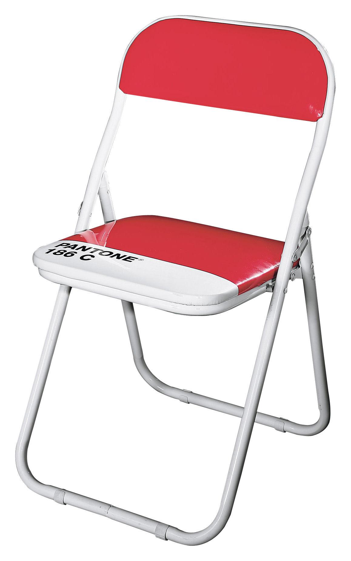 Chaise pliante pantone plastique structure m tal 186c Chaise pliante aluminium