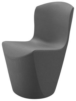 Chaise Zoe / Plastique - Slide anthracite en matière plastique