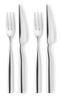 Couverts à barbecue - Lot 2 fourchettes + 2 couteaux - Eva Solo métal brillant en métal