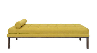 Furniture - Sofas - Cita Daytime bed - / 200 x 86 cm - Fabric by Bloomingville - Yellow / Oak - Foam, Oiled solid oak, Polyester
