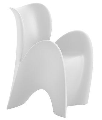 Mobilier - Chaises, fauteuils de salle à manger - Fauteuil Lily Small / Plastique - MyYour - Blanc mat - Matière plastique