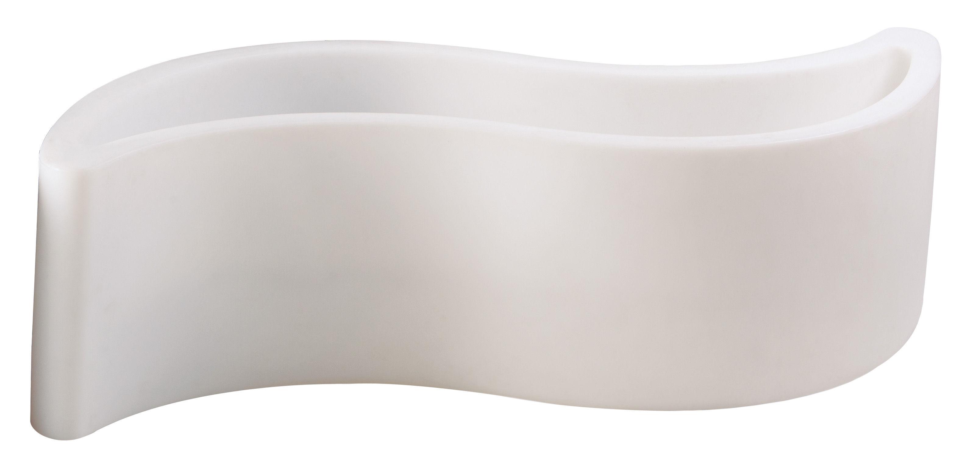 Arredamento - Panchine - Fioriera Wave - /Panchetta di Slide - Bianco - polietilene riciclabile