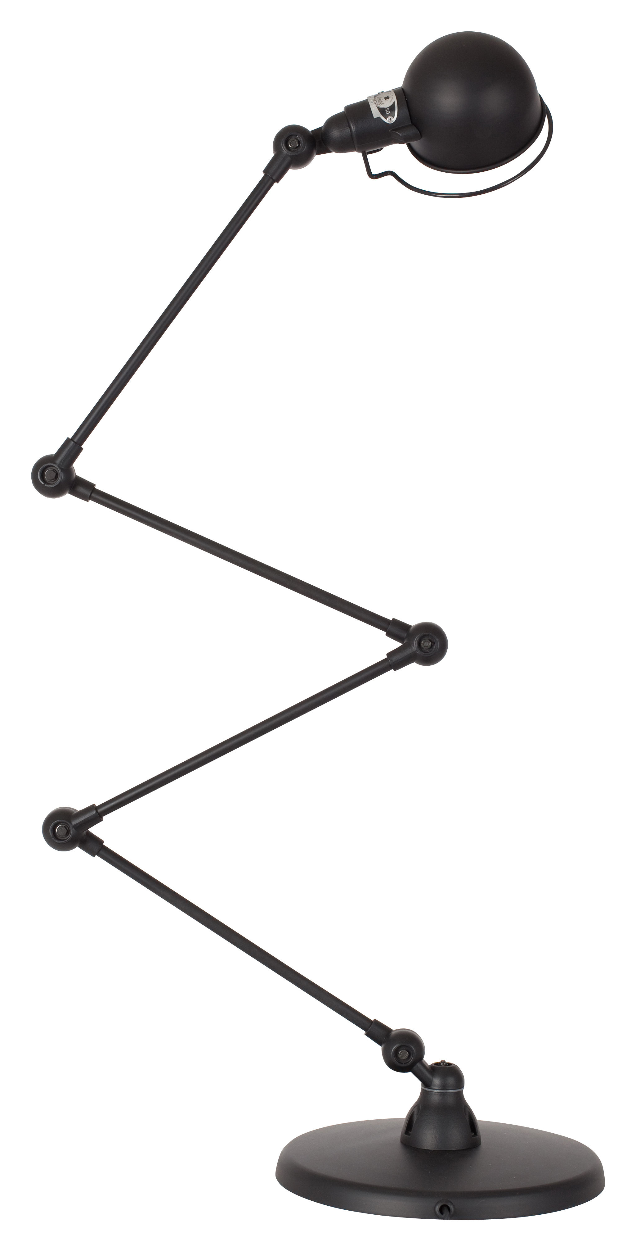Lighting - Floor lamps - Signal Zigzag Floor lamp - 4 arms - H max 120 cm by Jieldé - Matt Black - Stainless steel