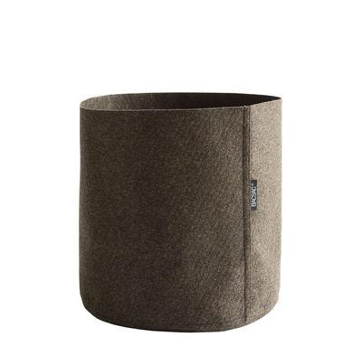 Outdoor - Pots & Plants - Humus Feutre Flowerpot - 25 L by Bacsac - 25 L / Brown - Geotextile felt
