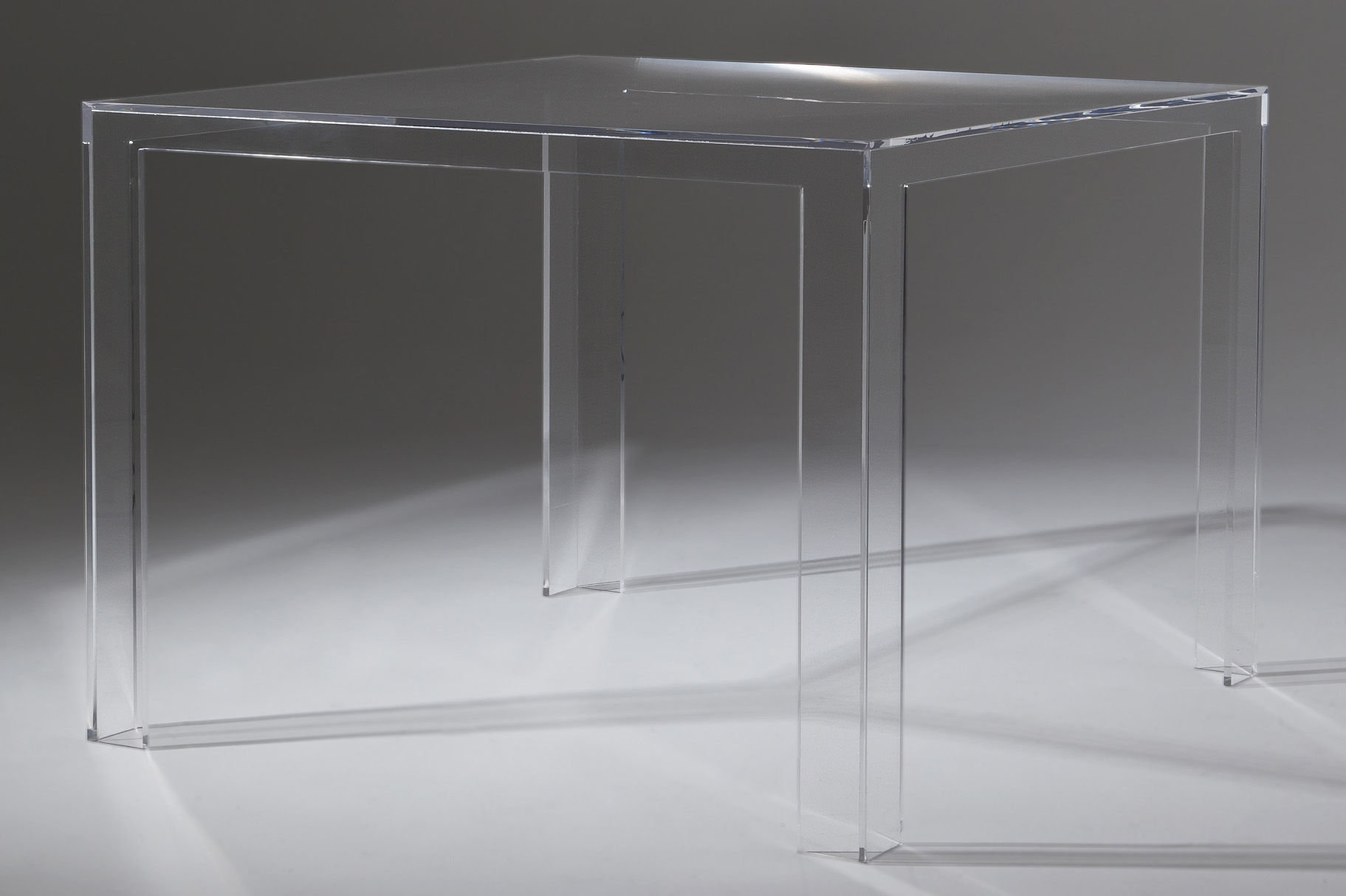 Furniture - Invisible Table carrée - H 72 cm by Kartell - Crystal - PMMA