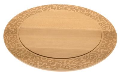 Tischkultur - Tabletts und Servierplatten - Dressed in Wood Käseplatte / Ø 41 cm - Alessi - Holz natur - Buchenfurnier