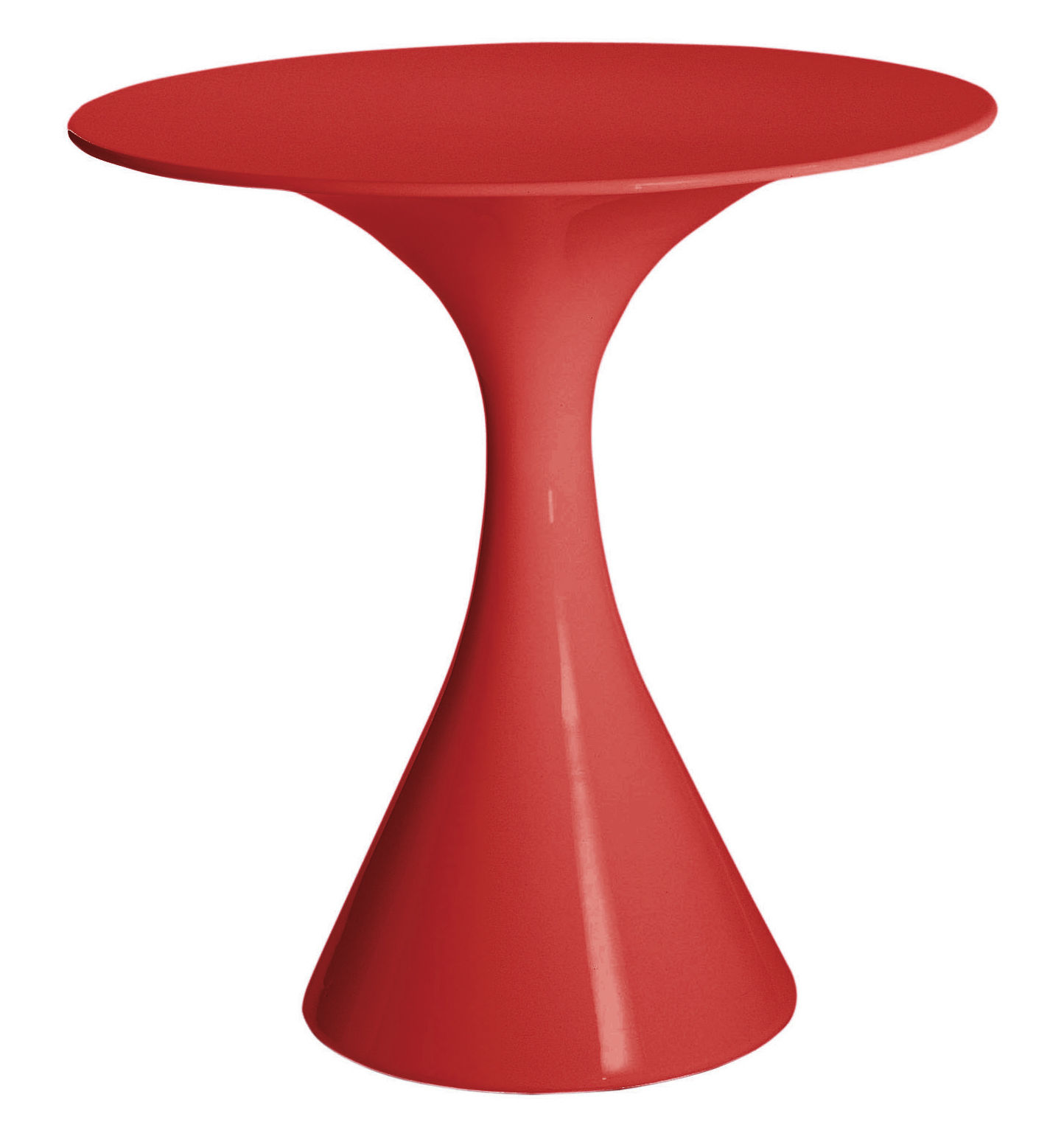 Outdoor - Garden Tables - Kissi Kissi Table ronde by Driade - Red - Polythene